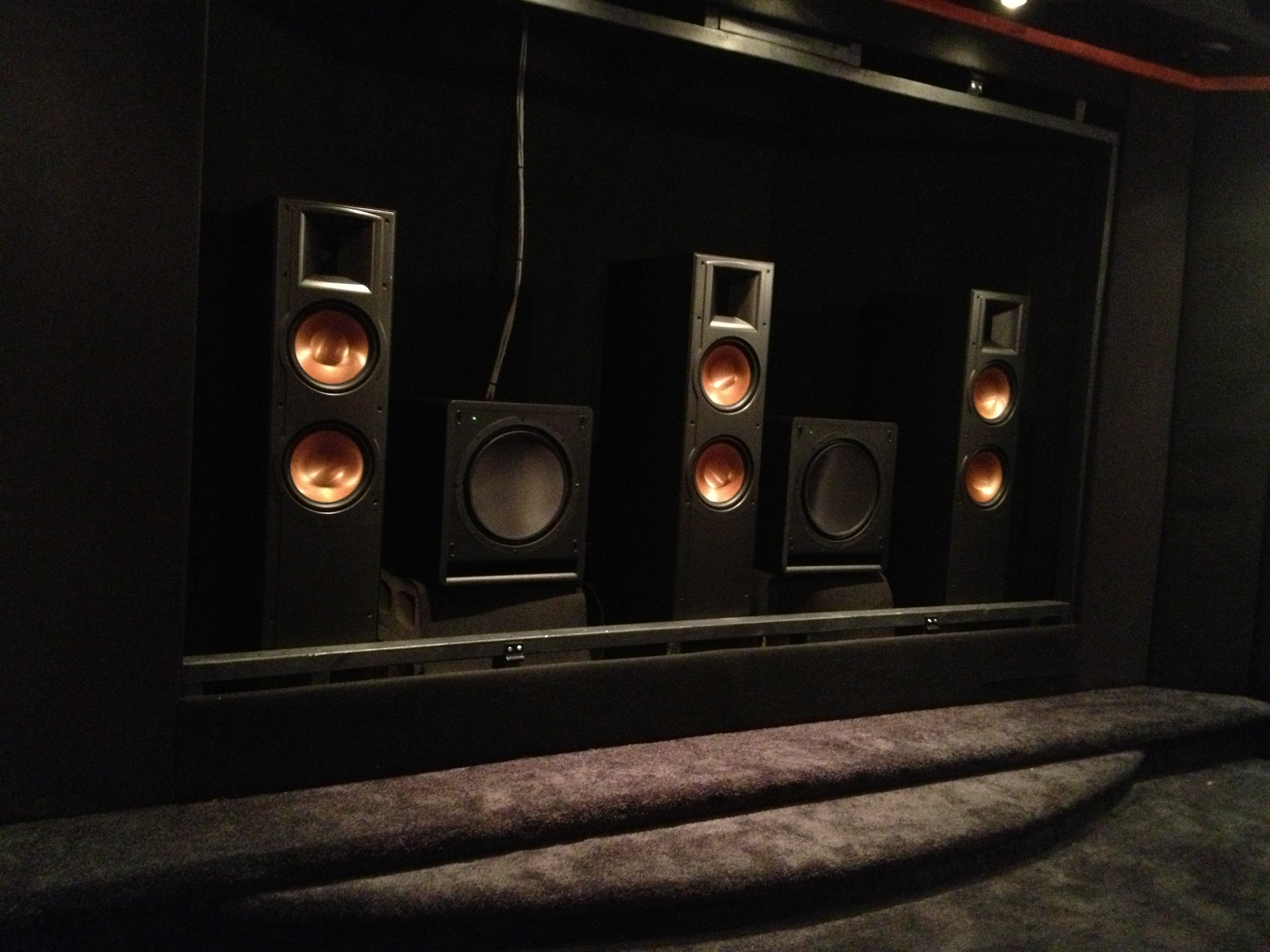 Home theatre with 2 speakers not, klipsch hd theater 500