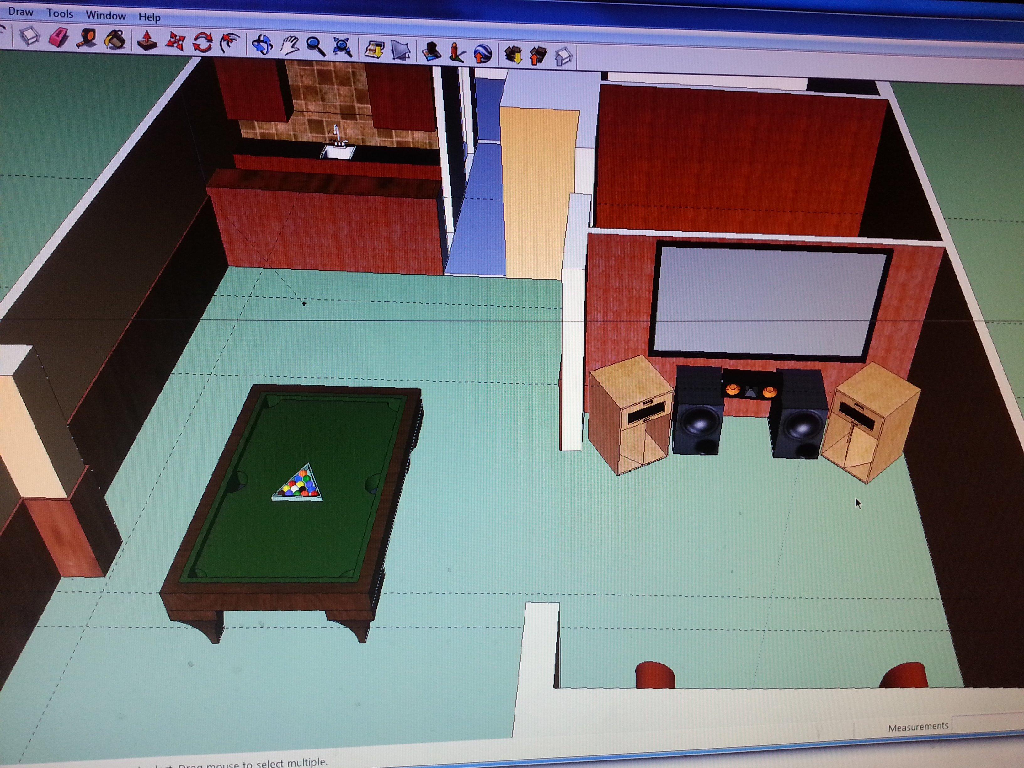 New Home Theater Setup - Short Wall vs Long Wall - AVS Forum   Home ...