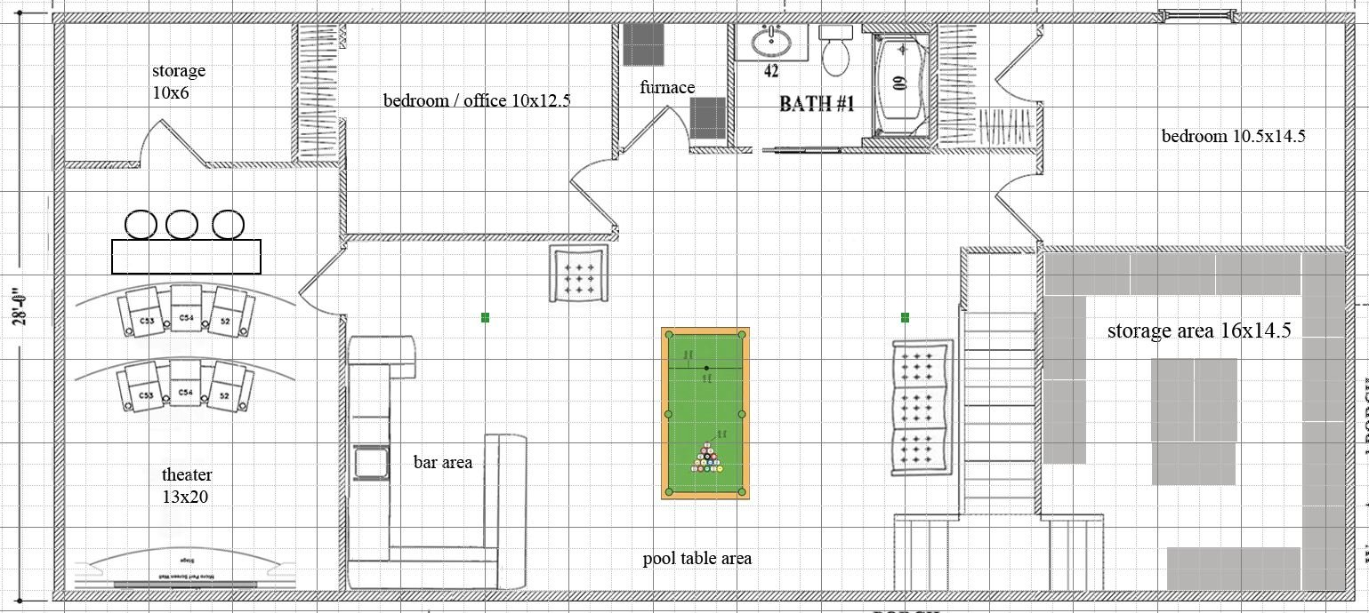 10x18 Dedicater Theater Possible Basement Layout Picture Included