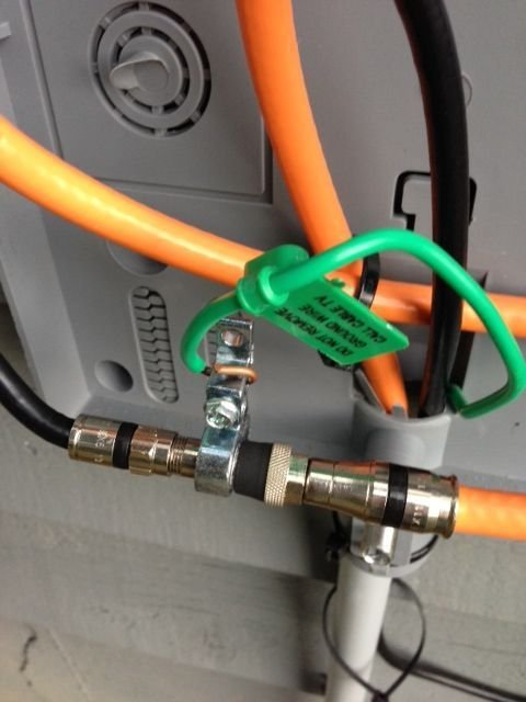surge protection and signal loss question avs forum home here are the pictures of how the cable feed is grounded