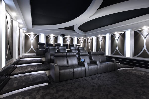 400 Modern Contemporary HT Theme Ideas Pics Page 2 AVS Forum. Home Theater  Wall Design.