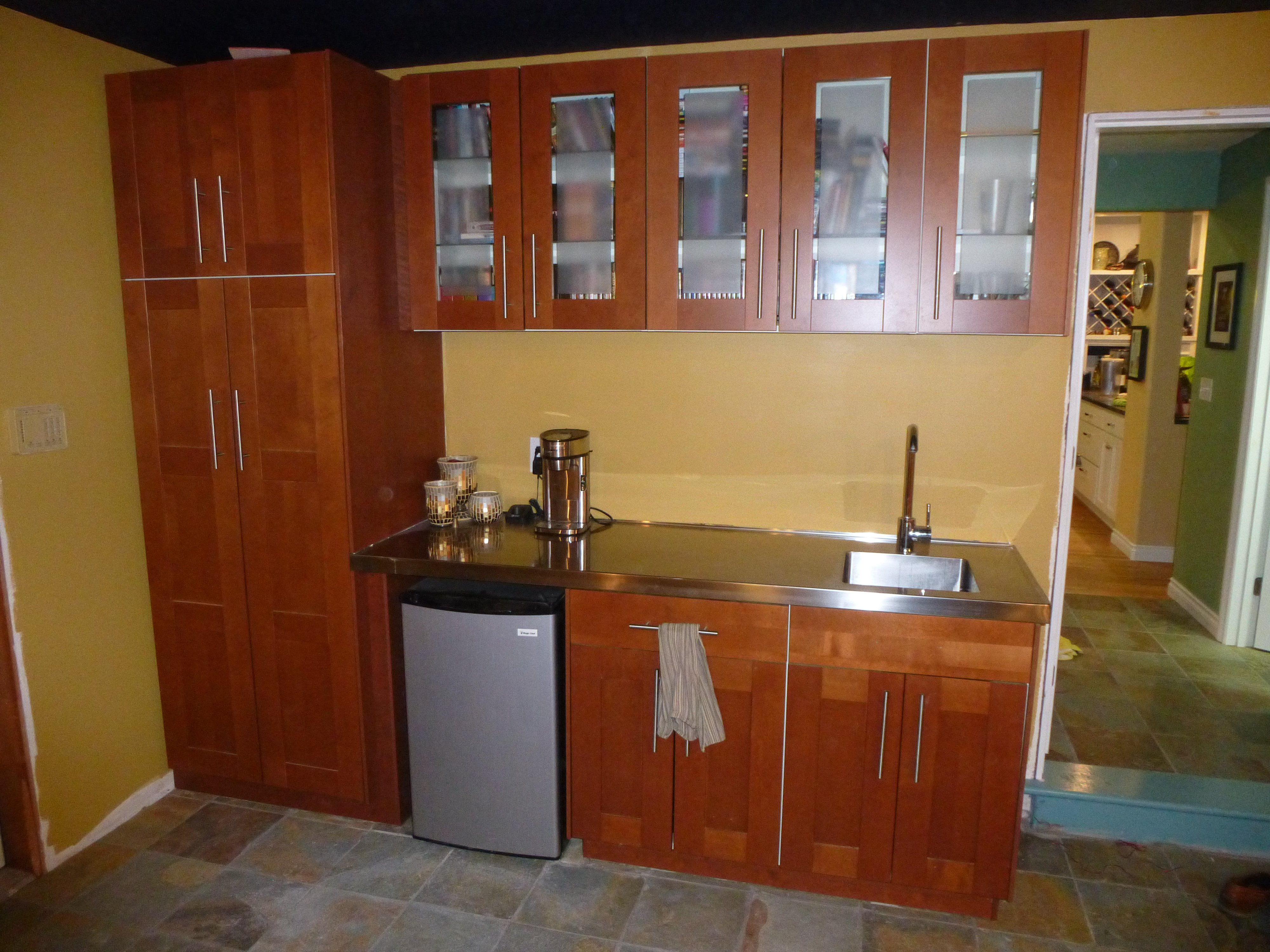 diy snack bar with ikea kitchen cabinets avs forum home theater discussions and reviews