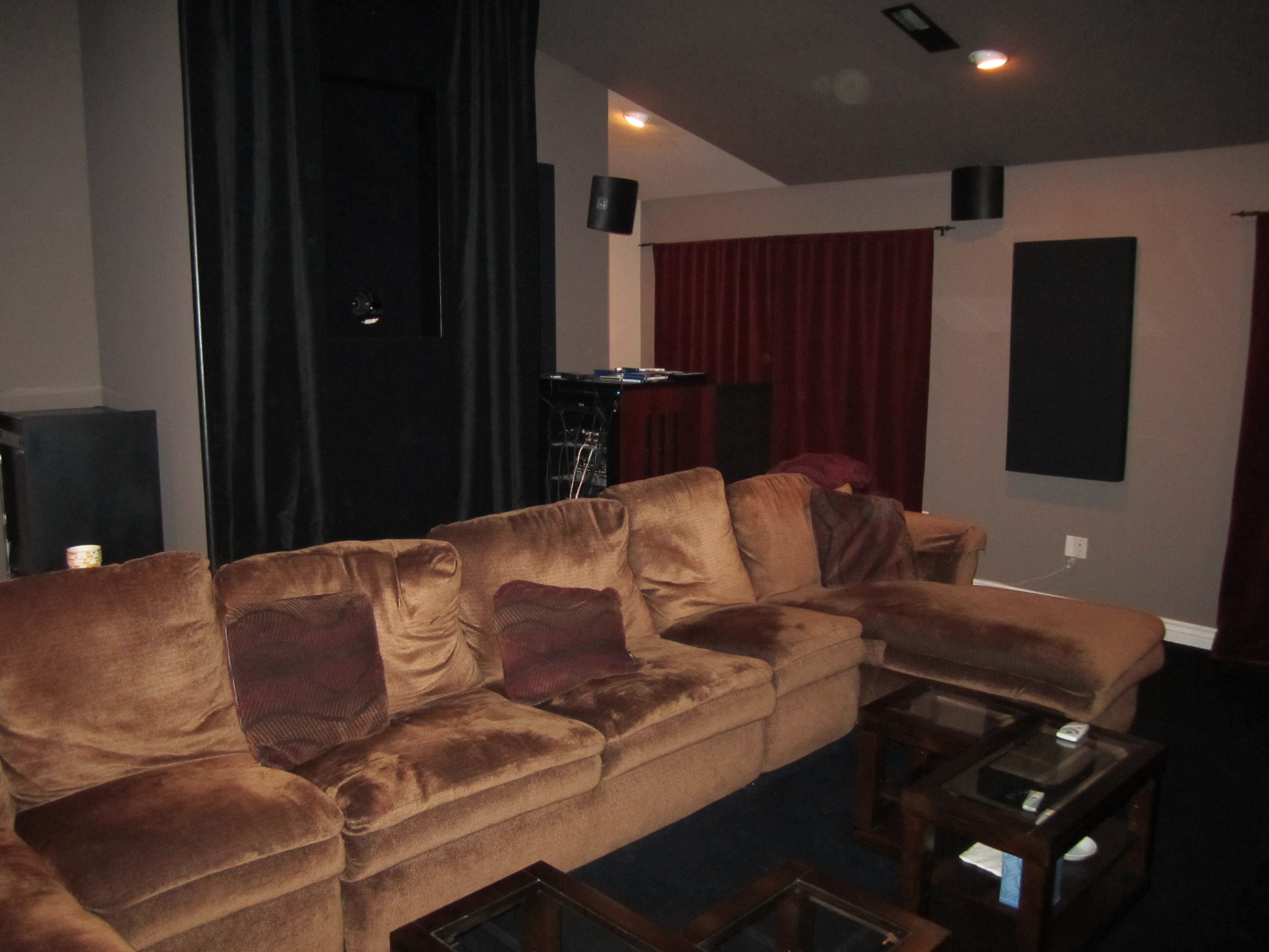 New GIK acoustic panels and Martin Logan Motion FX surround speakers.