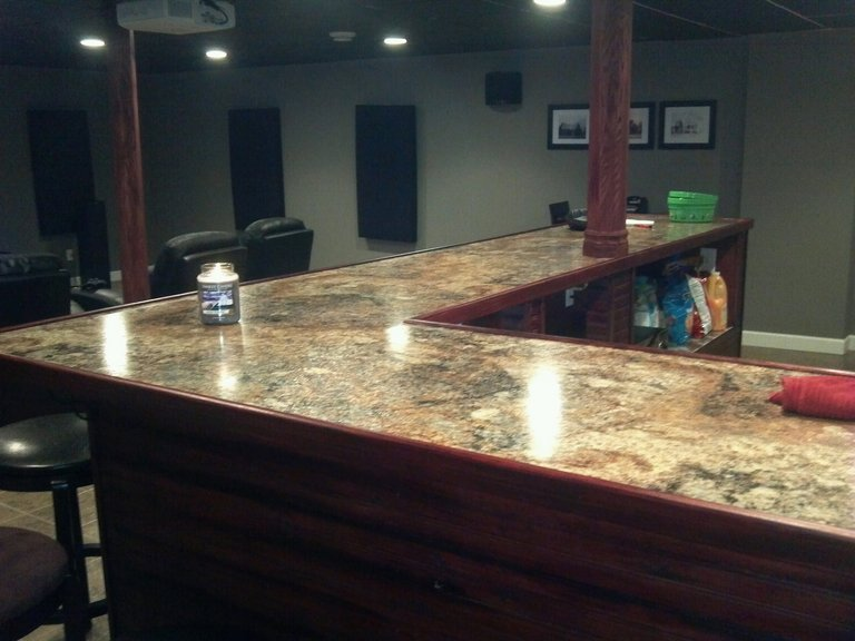 Charmant Finished Bar Top.