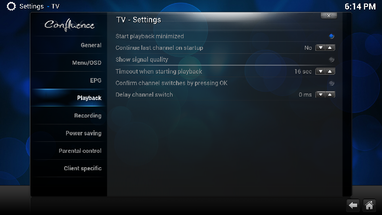 XBMC Live TV and NextPVR Guide (targeted to Homerun Prime