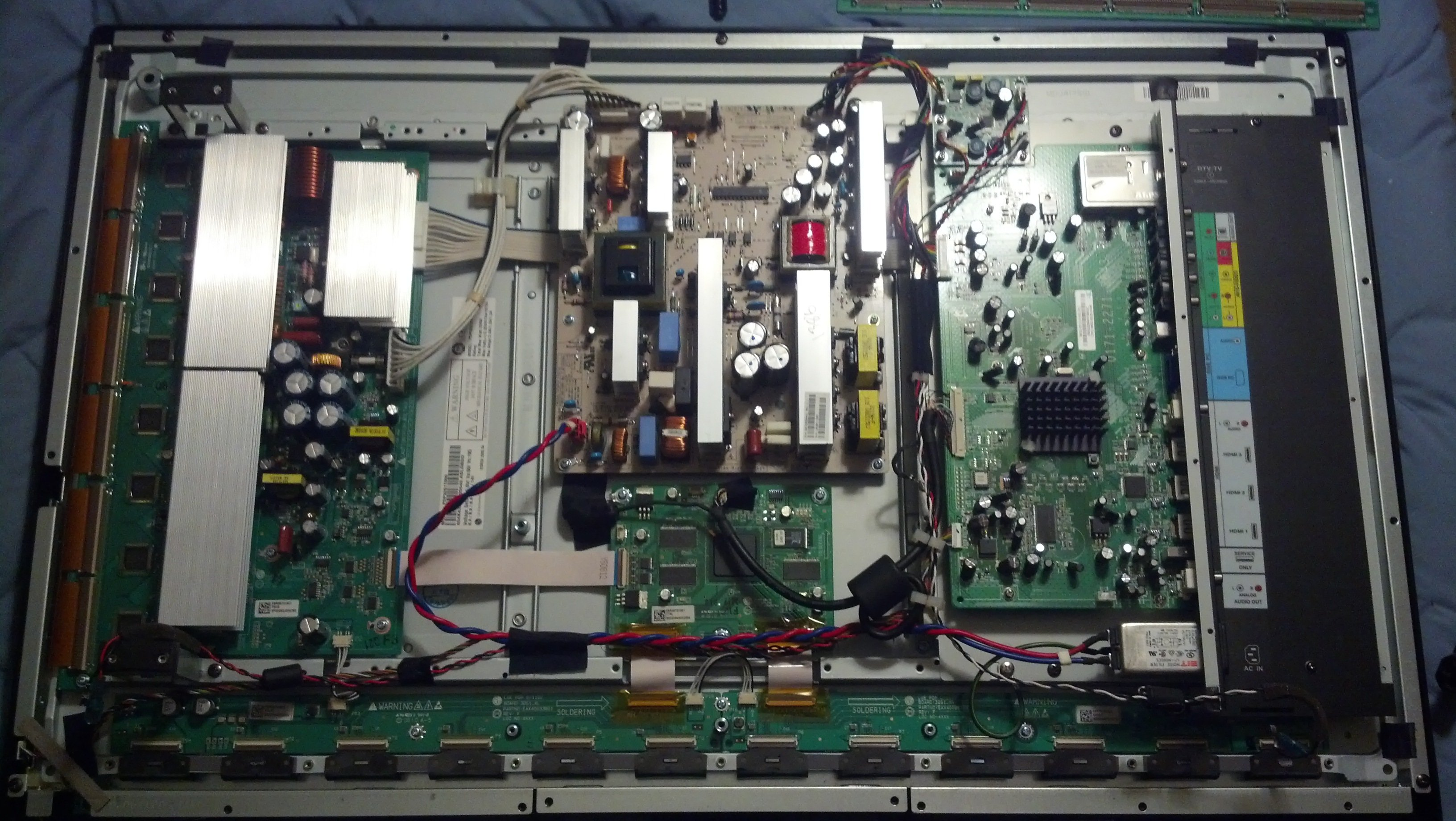 vizio vp plasma pop of death fixed page avs forum past troubleshooting the ribbons and 4 pin cable between the two bottom chips have never been completely disconnected while trying to power on the tv