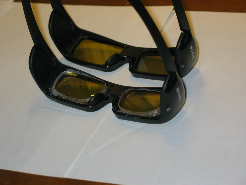 3044028981 The Rx lens was mounted inside the shutter glasses and held in place with  some silicone rubber cement. To avoid glare between the shutter glasses and  the Rx ...