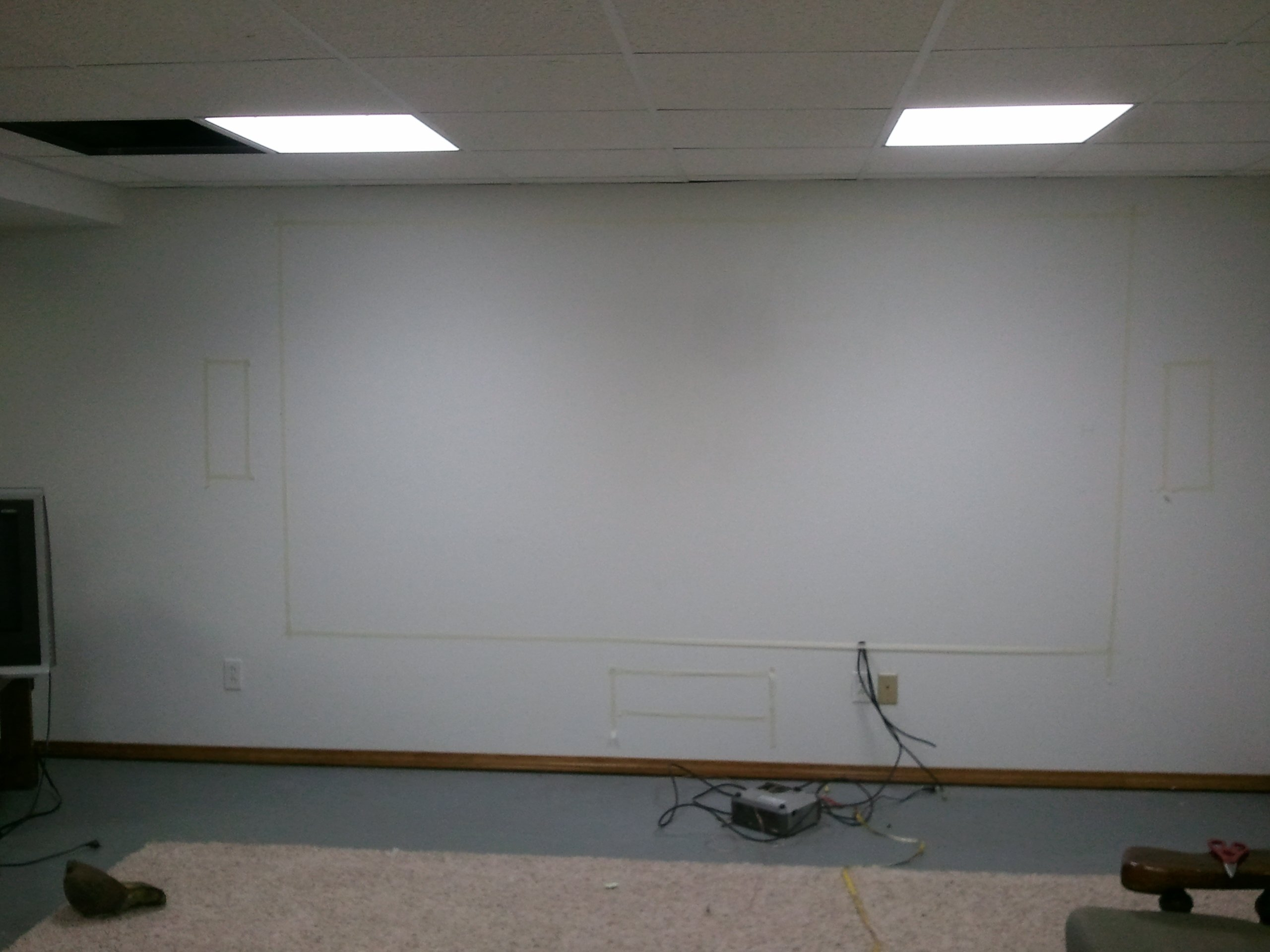 James Diy Basement Theater Avs Forum Home Discussions Wiring I Also Ran All The Back To Closet That Can Been Seen In Picture Below