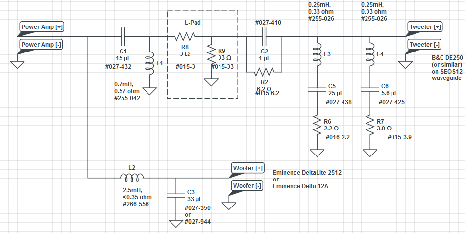 Peavey passive crossover schematic radio wiring diagram seos12 2512 build page 3 avs forum home theater discussions rh avsforum com peavey sp4g crossover publicscrutiny Gallery