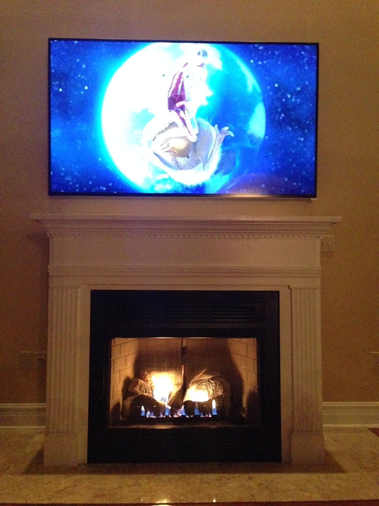 flat panel over fireplace discomforting page 7 avs forum