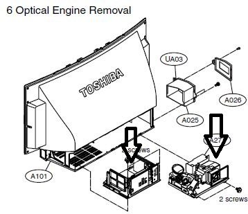 Toshiba Dlp Rear Projection Disassembly And Cleaning Models 42hm95 52hm95 62hm95 Avs Forum